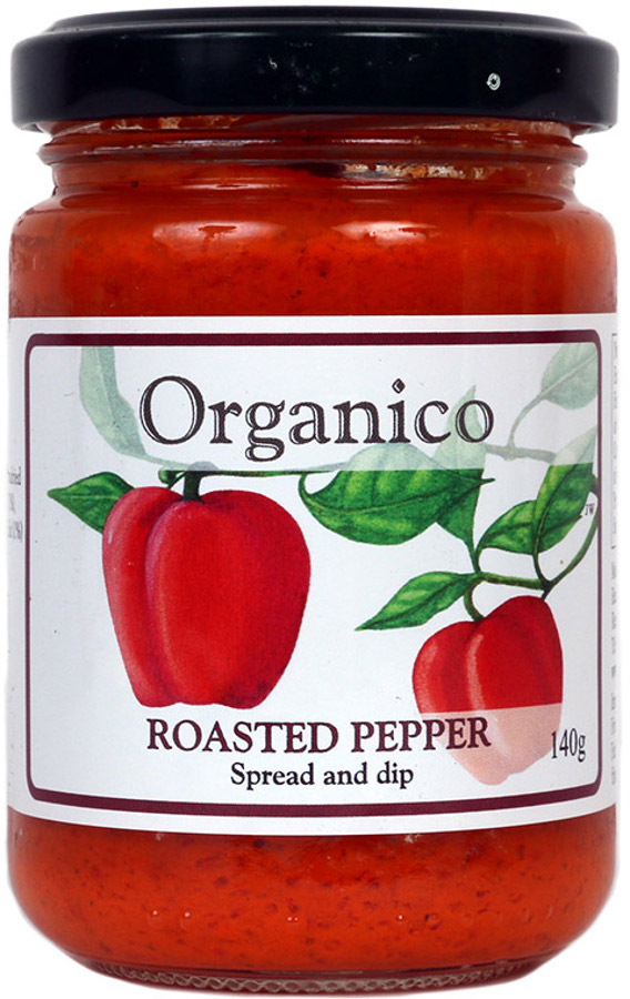 Organico Roasted Pepper Spread & Dip - 140g