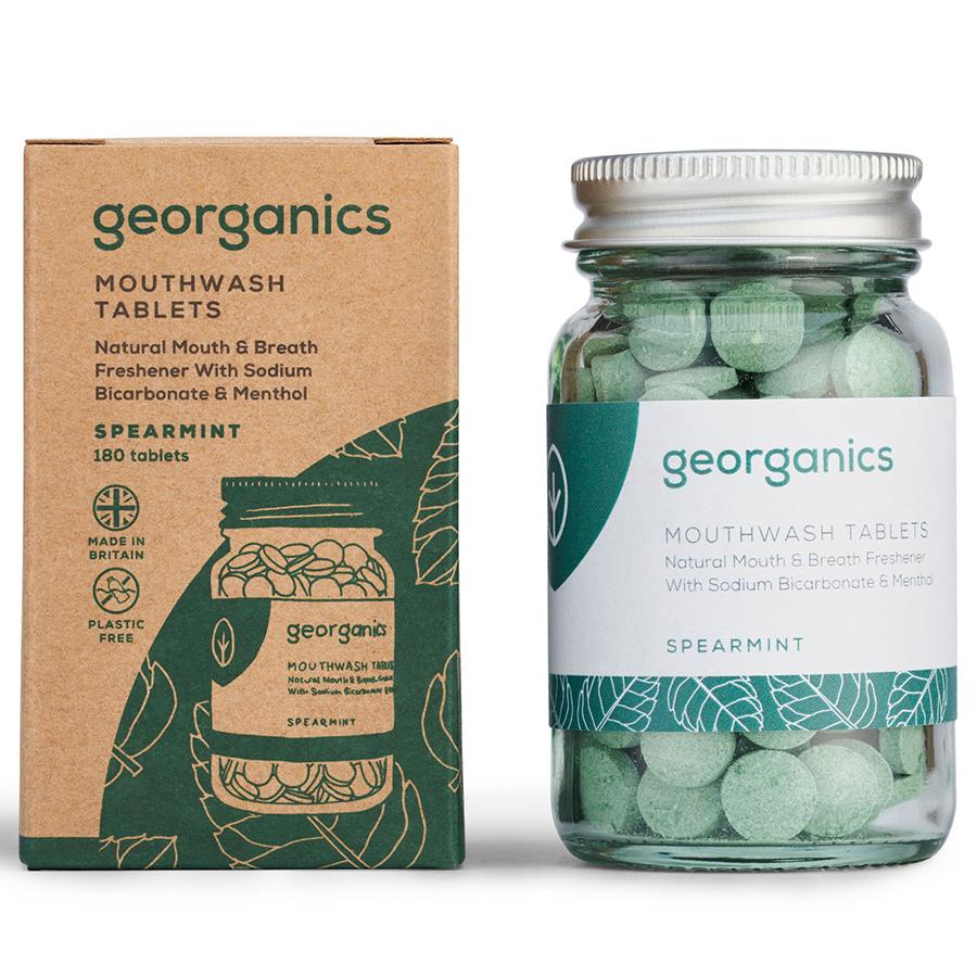 Georganics Mouthwash Tablets - Spearmint - 180 Tabs - Georganics