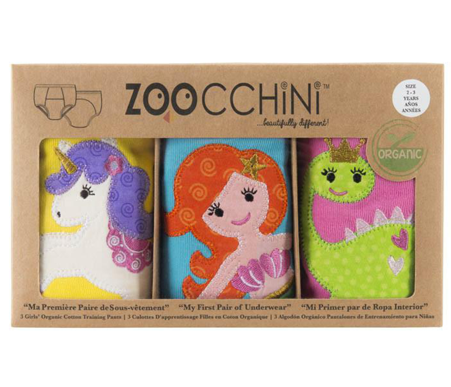 Zoocchini Fairy Tails Girls Training Pants (set of 3)