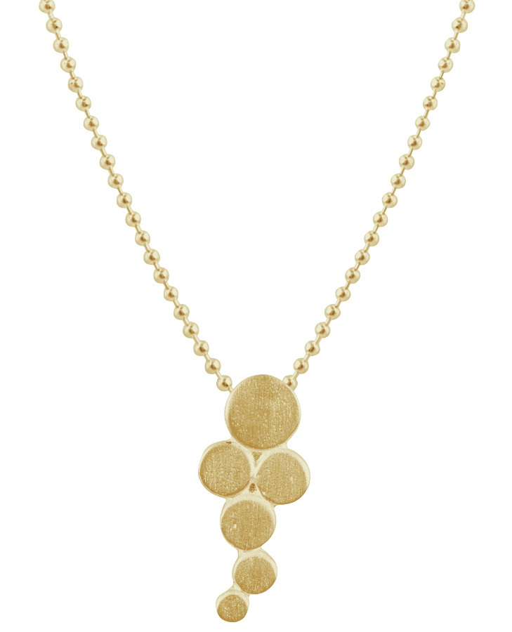 Kashka London Big Bubbles Gold Plated Necklace