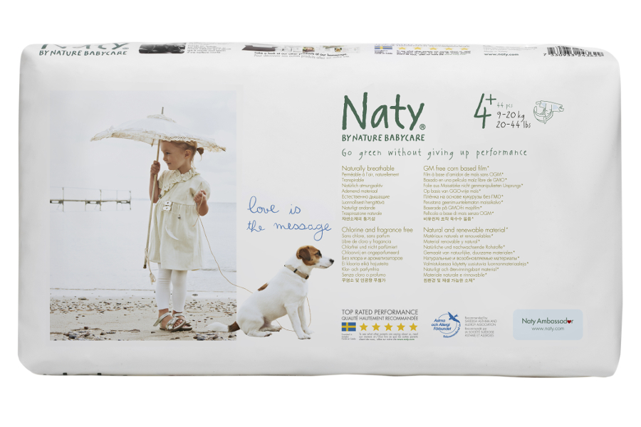 Image of Naty by Nature Nappies Economy Pack - Junior Size 4+ - Pack of 44