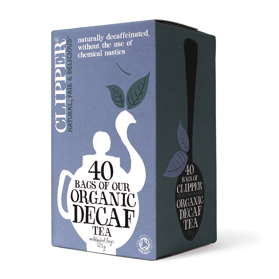 clipper organic decaffeinated teabags 40 bags. Black Bedroom Furniture Sets. Home Design Ideas