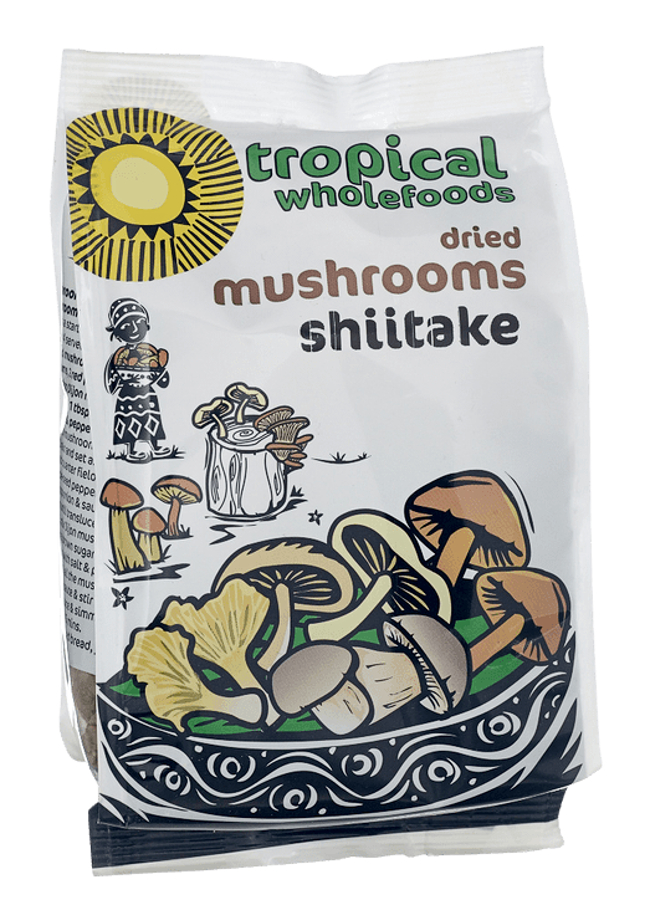 Tropical Wholefoods Dried Shiitake Mushrooms - 50g