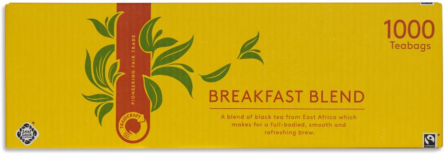 Traidcraft Fair Trade Breakfast Blend Tea Catering Pack - 1000 Bags
