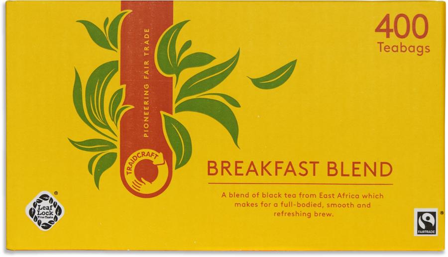 Traidcraft Fair Trade Breakfast Blend Tea Catering Pack - 400 Bags