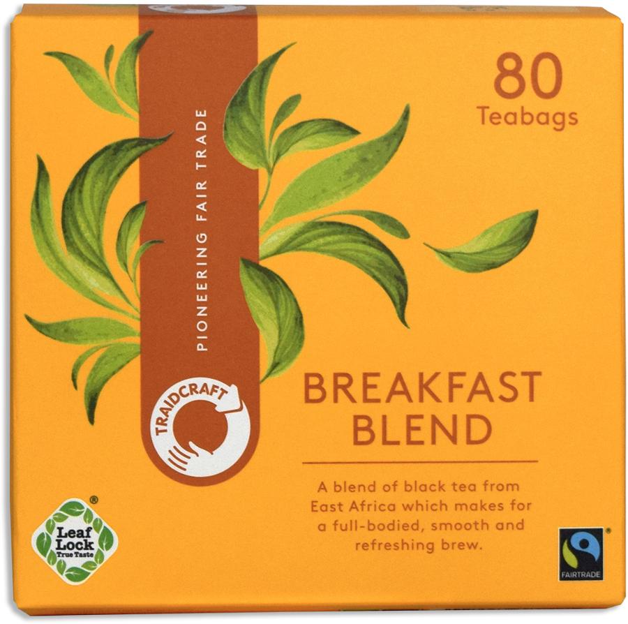 Traidcraft Fair Trade Breakfast Blend Tea - 80 Teabags