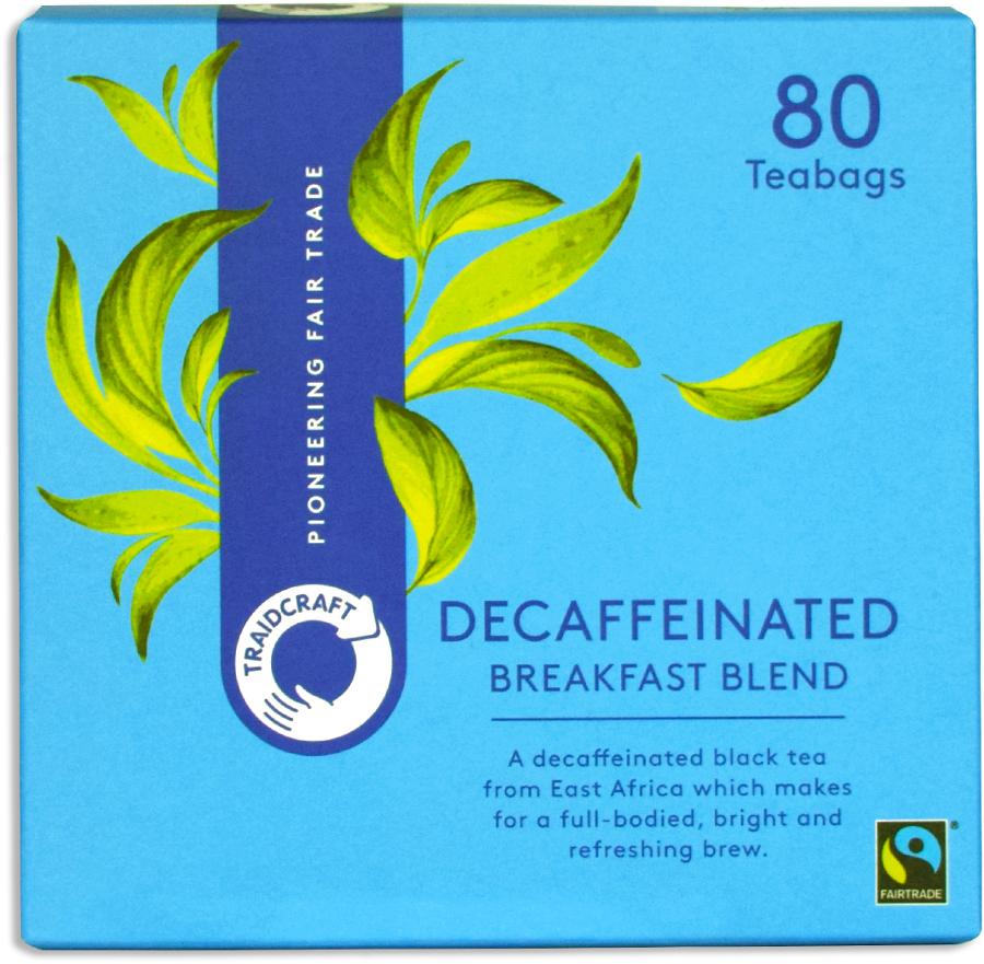 Traidcraft Fair Trade Decaffeinated Breakfast Blend Tea - 80 Teabags