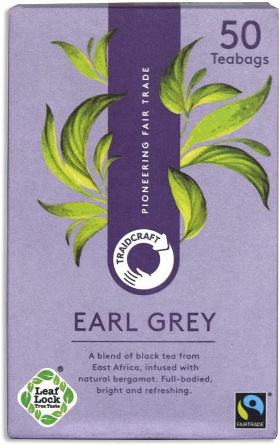 Traidcraft Fair Trade Earl Grey Tea - 50 Teabags