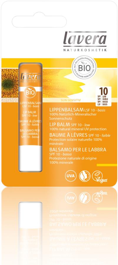 afa50b3dfc4 Lavera Organic Sun Care Lip Balm SPF10 - 4.5g - Lavera