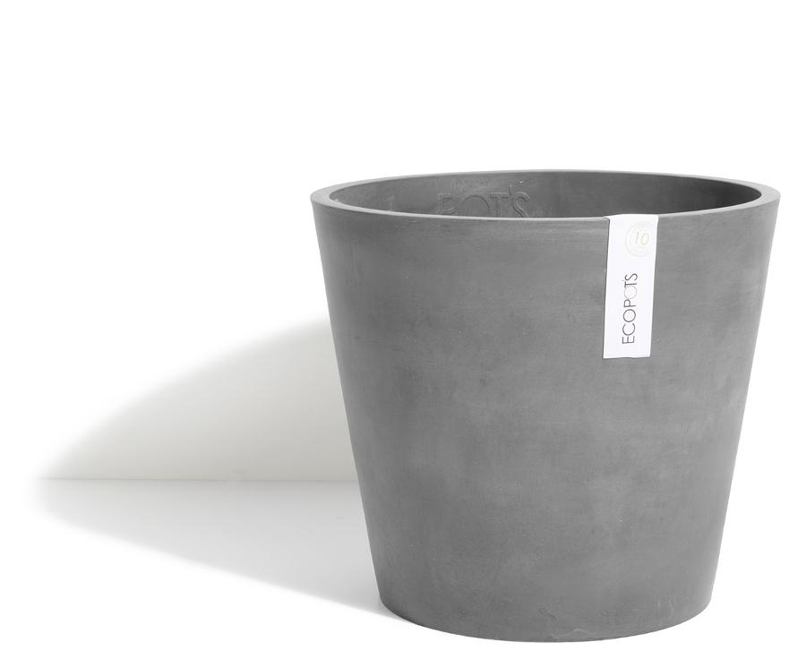 Ecopots Small Amsterdam Plant Pot - Grey
