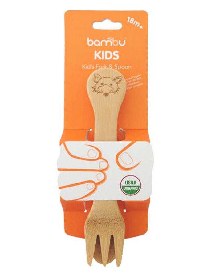 Image of Bambu Sustainable Kids Fork & Spoon - 18m+