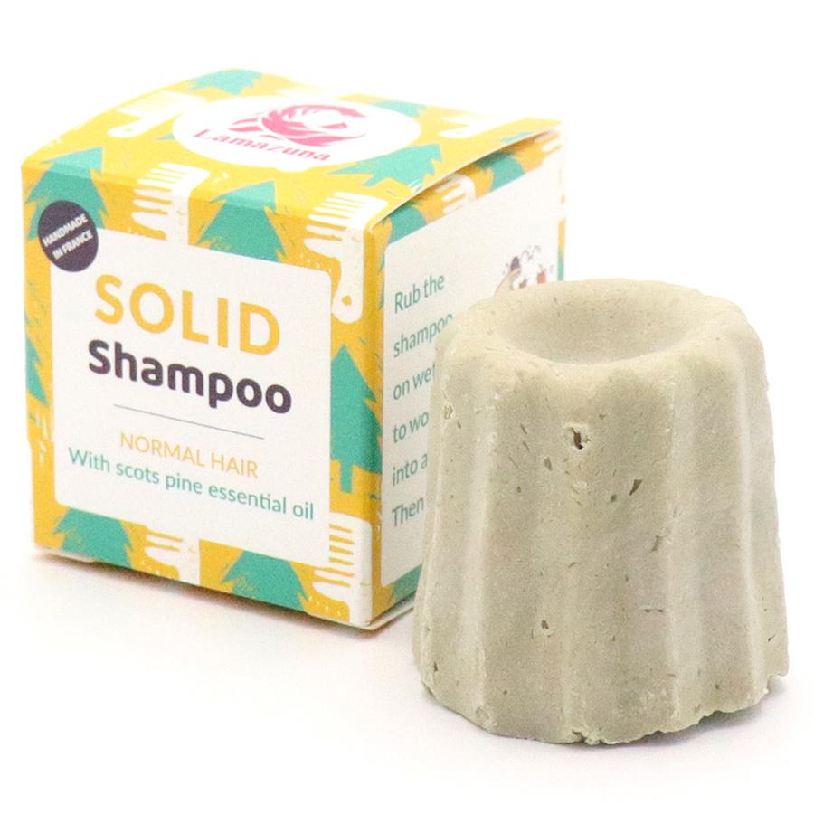 Lamazuna Solid Scotch Pine Shampoo - Normal Hair - 55g