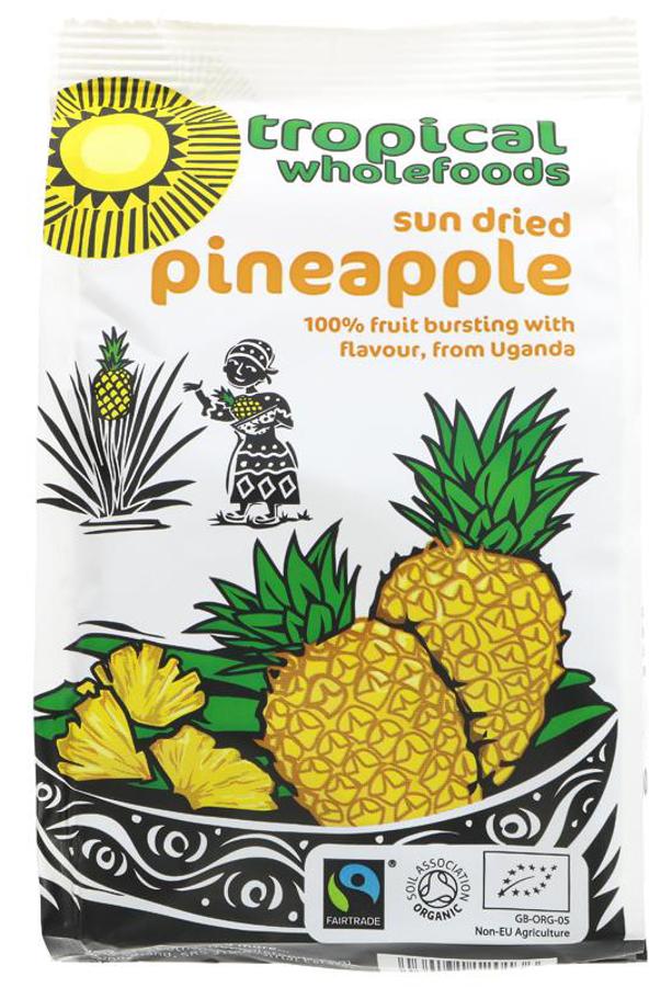 Tropical Wholefoods Sun Dried Pineapple - 100g