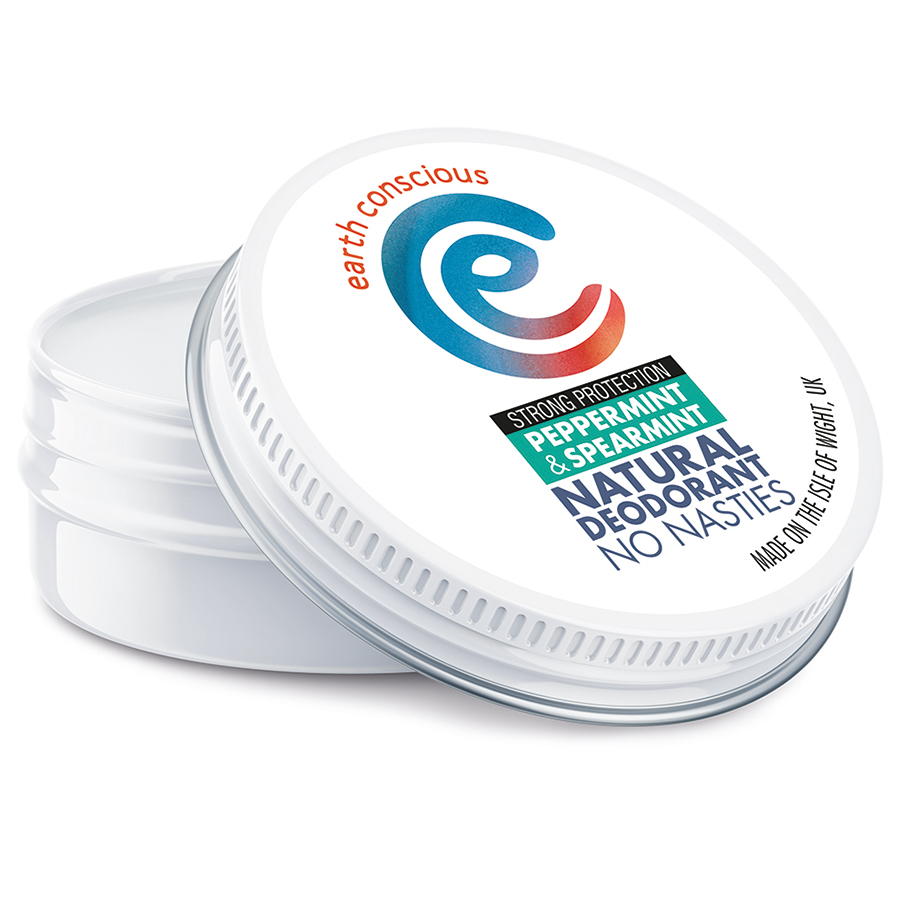 Earth Conscious Peppermint & Spearmint Natural Deodorant - 60g