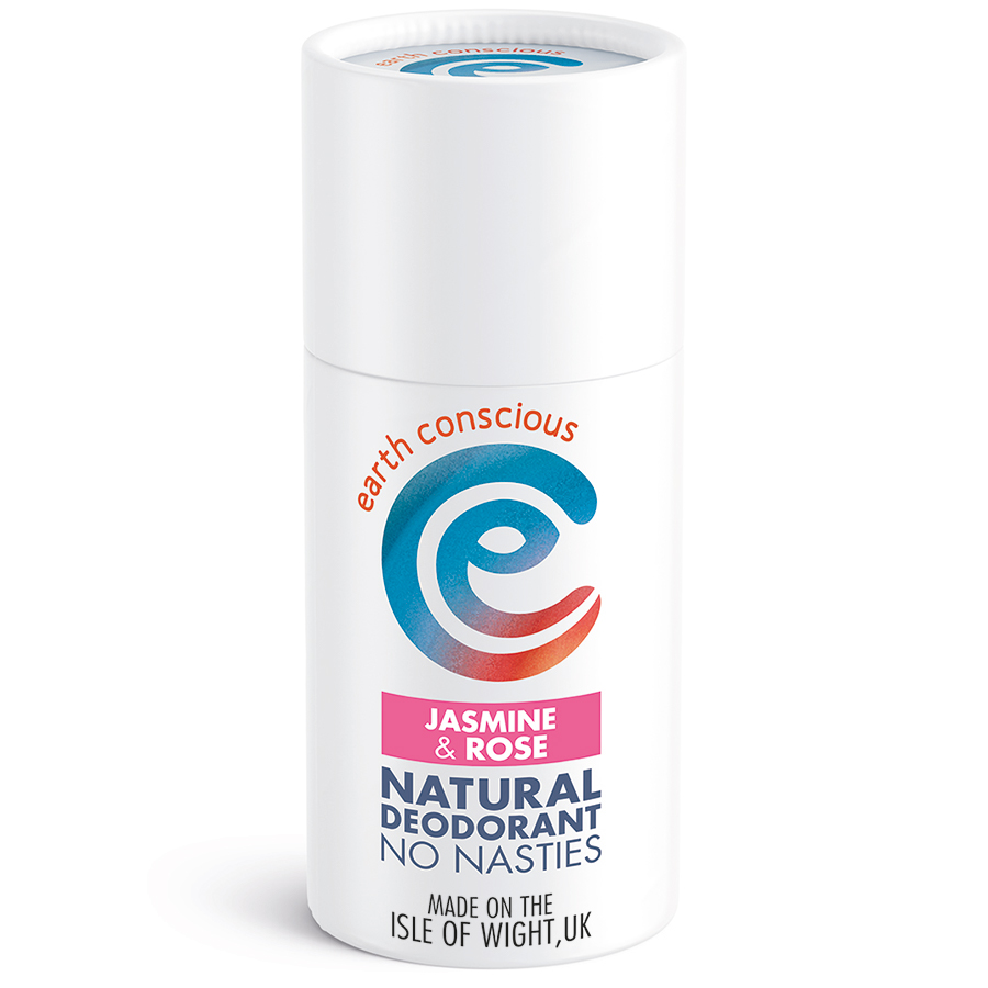 Earth Conscious Jasmine & Rose Natural Deodorant Stick - 60g