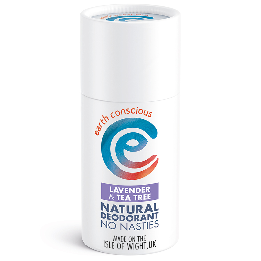 Earth Conscious Lavender & Tea Tree Natural Deodorant Stick - 60g