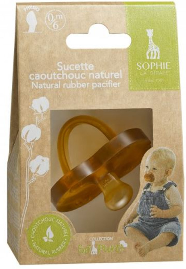 So Pure Sophie La Girafe Natural Rubber Pacifier