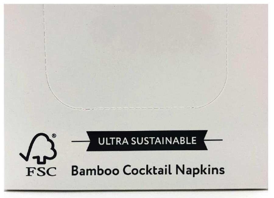 The Cheeky Panda Plastic Free Bamboo Cocktail Napkins - 100