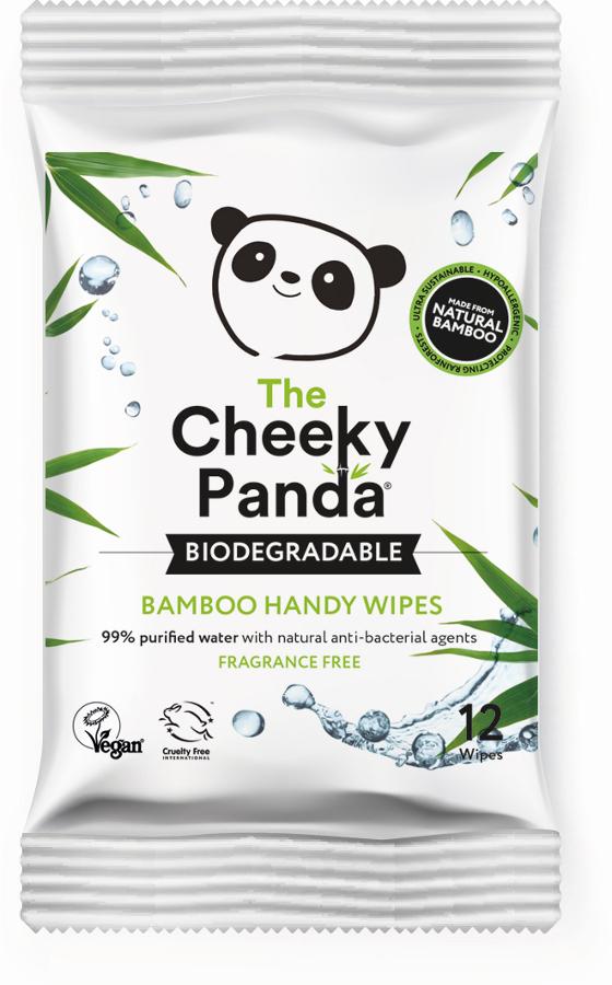 The Cheeky Panda Bamboo Travel Wipes - 12 Wipes