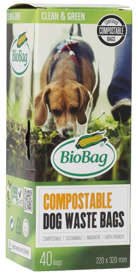Biobag Compostable Dog Waste Bag - Roll of 40