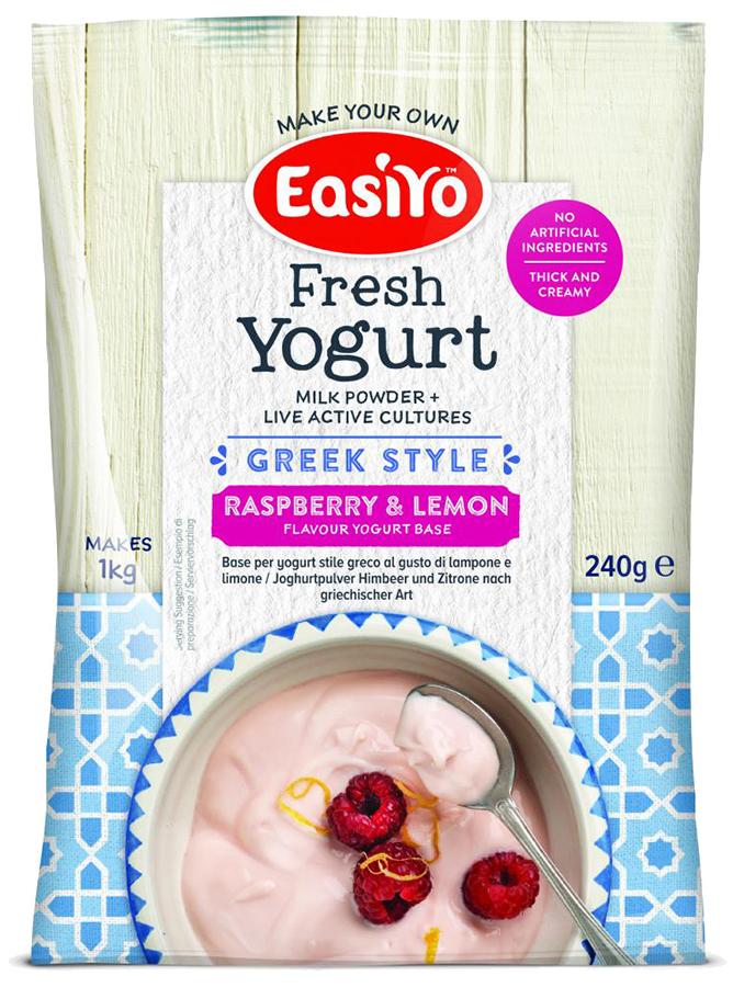 Easiyo Greek Style Raspberry & Lemon Yoghurt - 240g