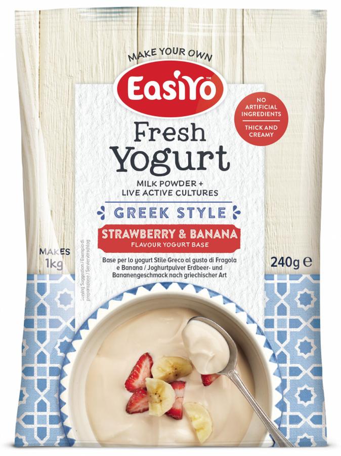 Easiyo Greek Style Strawberry & Banana Yoghurt - 240g