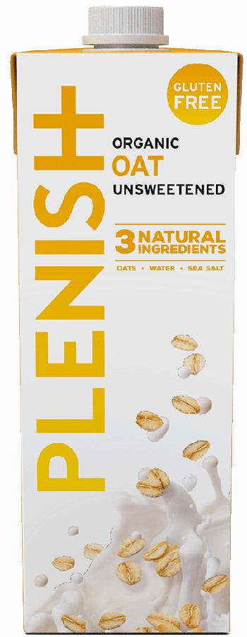 Plenish Organic Gluten Free Oat Milk - 1L