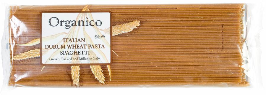 Organico Wholewheat Spaghetti Pasta - 500g