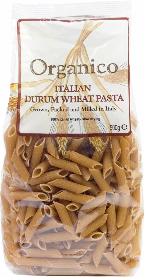 Organico Wholewheat Penne Pasta - 500g