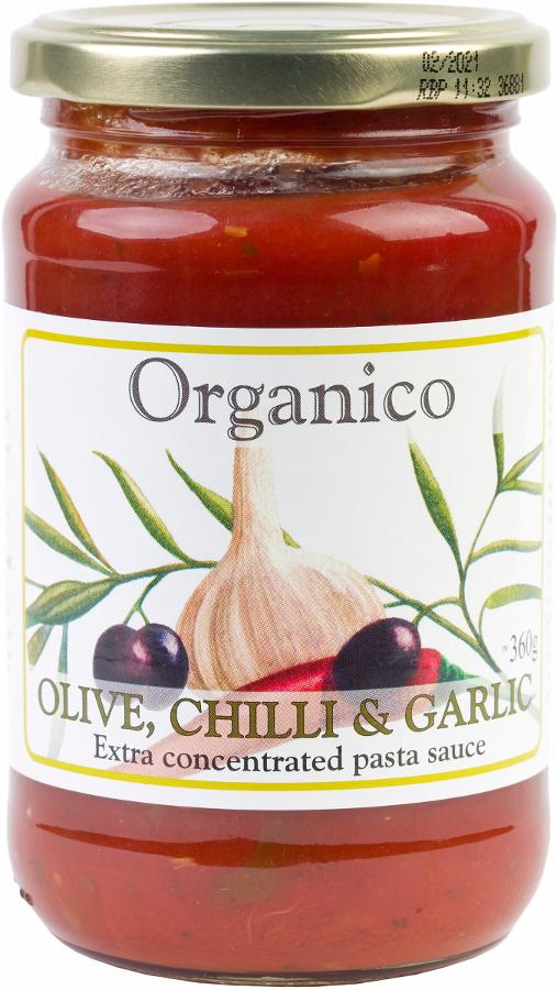 Organico Olive Chilli & Garlic Pasta Sauce - 360g