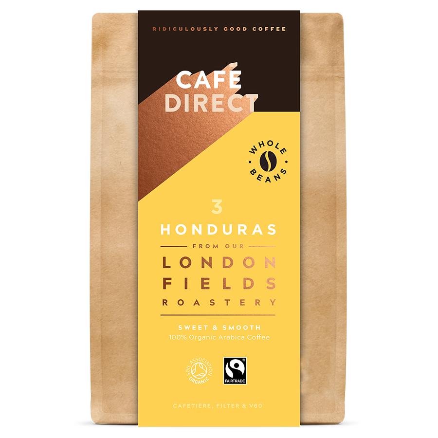 Cafédirect London Fields Honduras Organic Coffee Beans - 200g