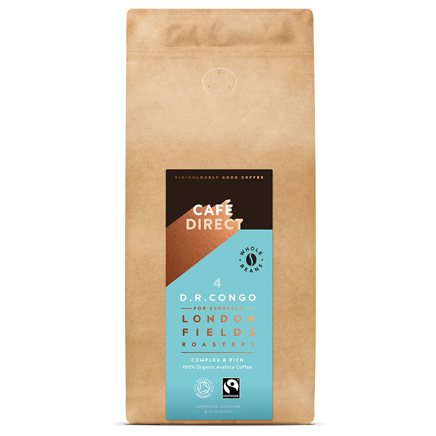 Cafédirect London Fields Congo Organic Coffee Beans - 1kg