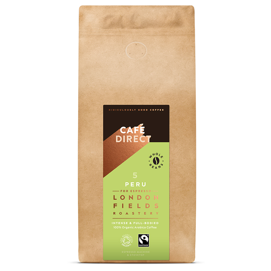 Cafédirect London Fields Peru Espresso Organic Coffee Beans - 1kg