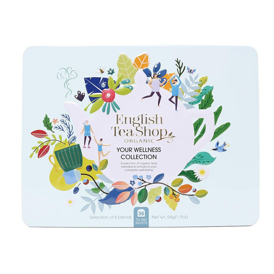 English Tea Shop Your Wellness Tea Collection Blue Gift Tin - 36 Bags
