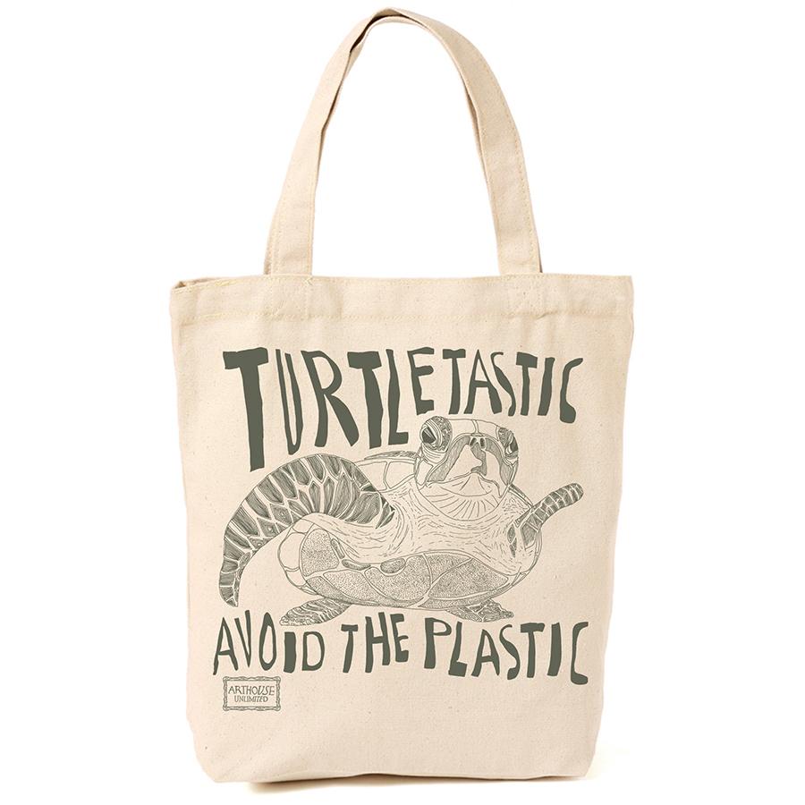 ARTHOUSE Unlimited Turtles Canvas Shopper - Cream & Green