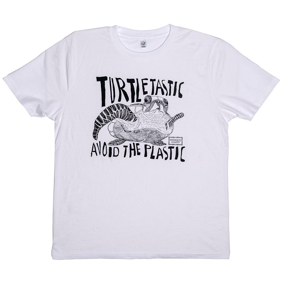 ARTHOUSE Unlimited Organic Cotton Turtletastic T-Shirt – White