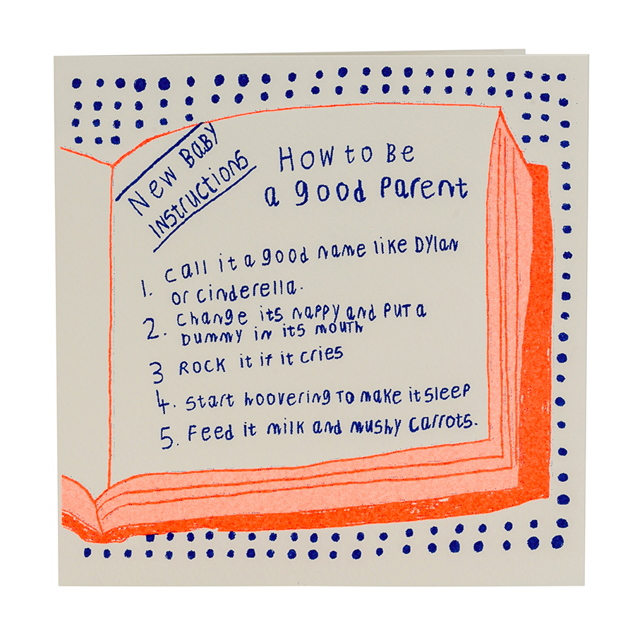 ARTHOUSE Unlimited How To Be A Good Parent Charity Card