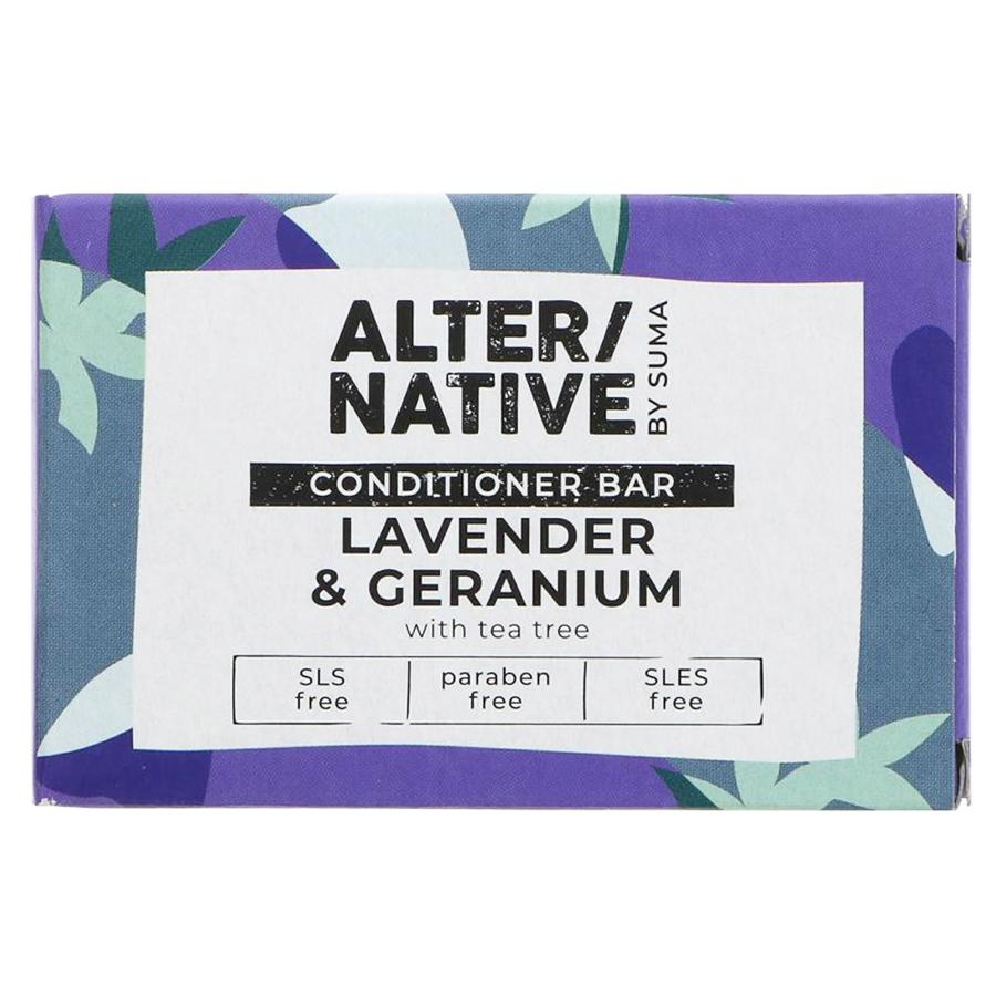 Alternative by Suma Conditioner Bar - Lavender & Geranium- 90g