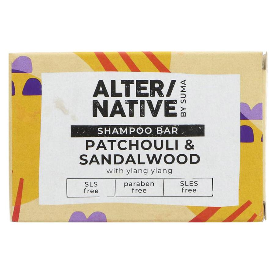 Alternative by Suma Glycerine Shampoo Bar - Patchouli & Sandalwood - 90g