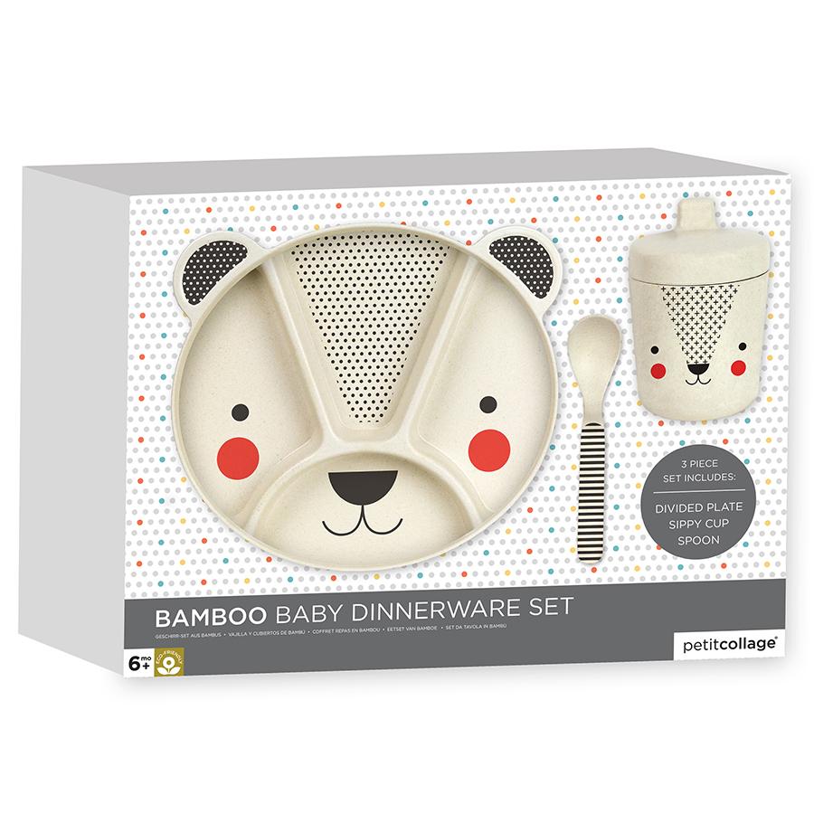 Petit Collage Bamboo Baby Dinnerware Set - Bear