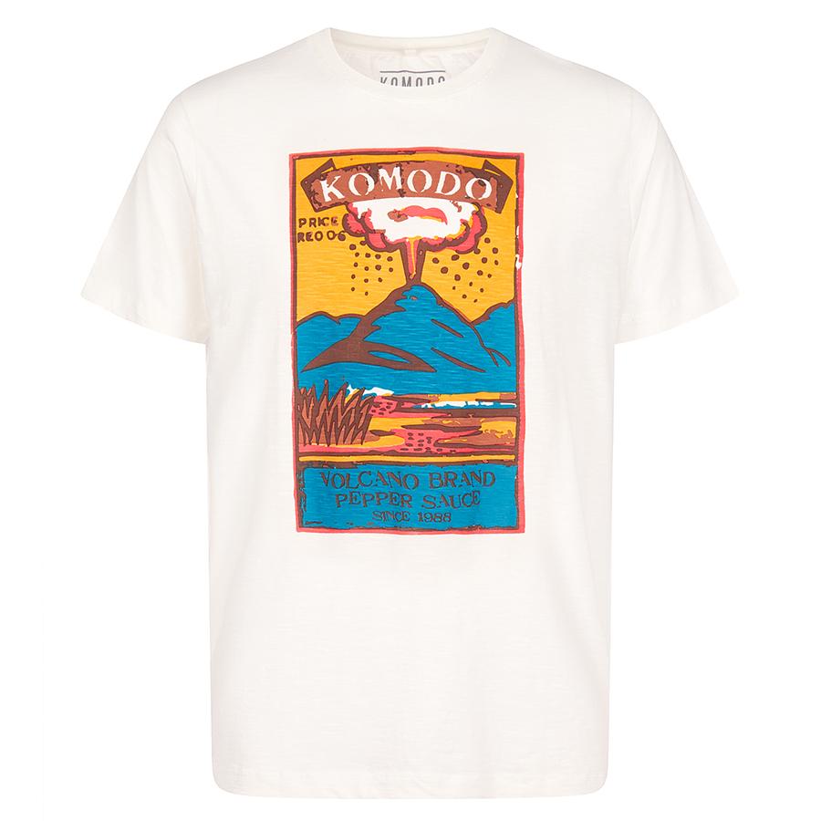 Komodo Kin Volcano T-Shirt - Off White