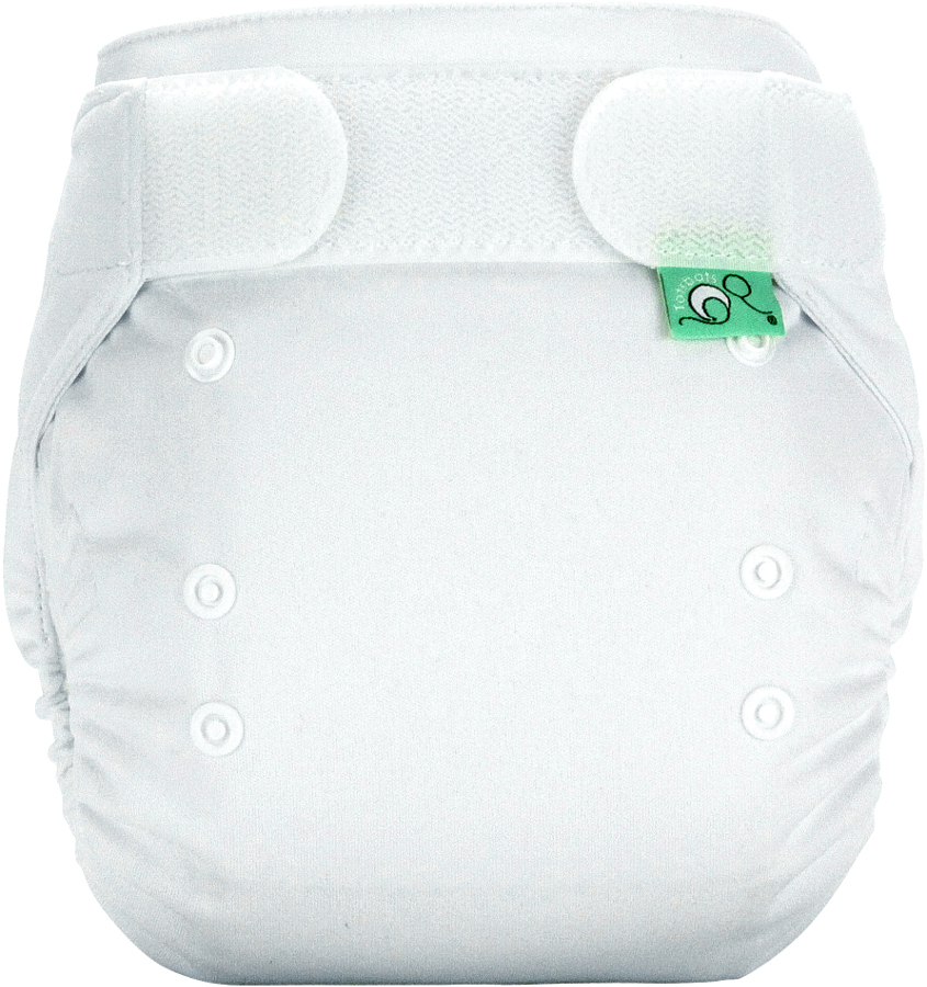 Tots Bots Easyfit Star All-in-One Reusable Nappy - White