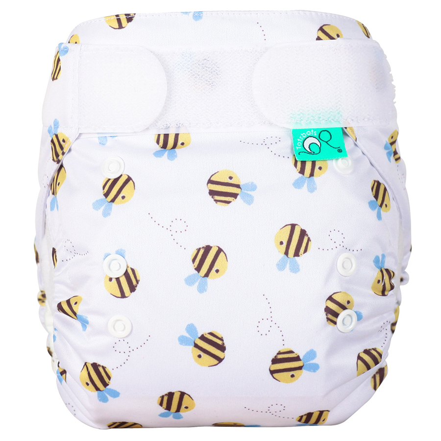Tots Bots Easyfit Star All-in-One Reusable Nappy - Buzzy Bees