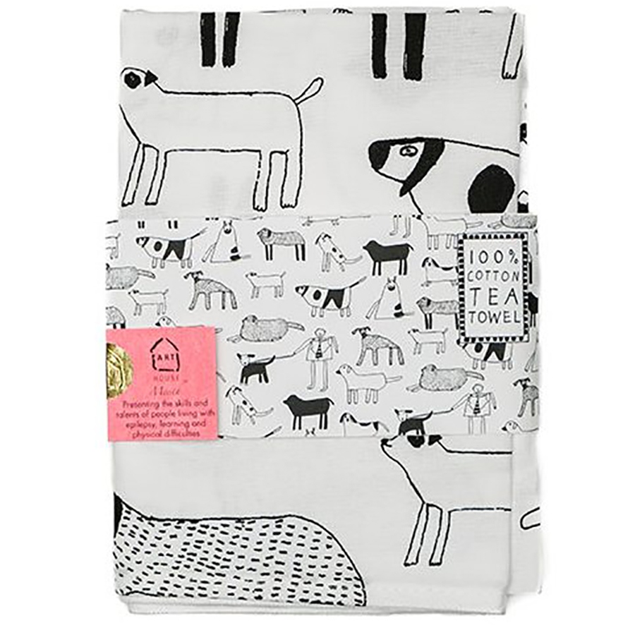 ARTHOUSE Unlimited Dogs Tea Towel