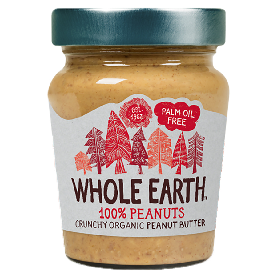 Whole Earth 100 percent Peanuts Crunchy Peanut Butter - 227g