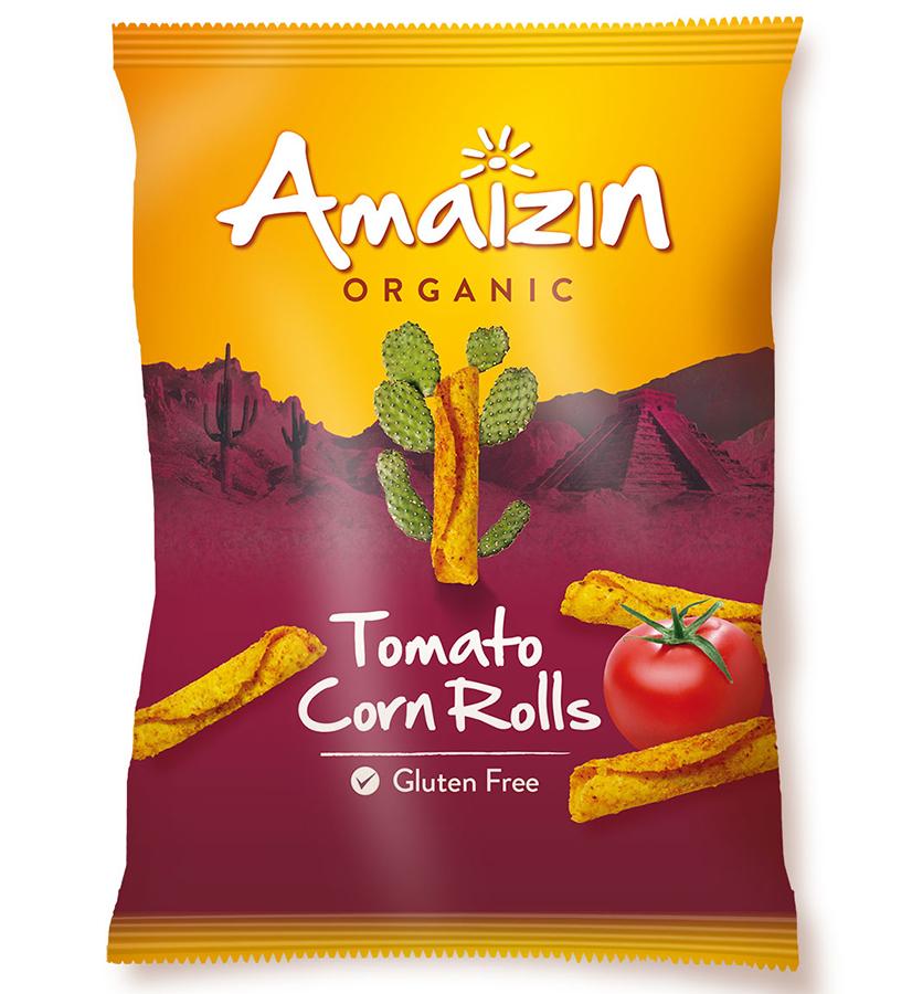 Amaizin Tomato Corn Rolls - 100g