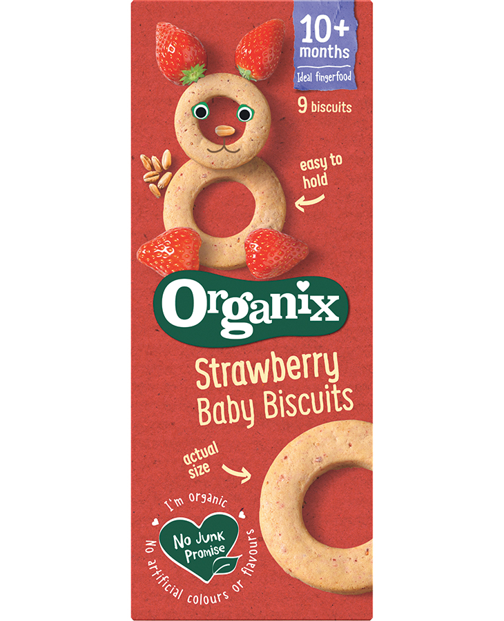 Organix Strawberry Ring Biscuits - 54g