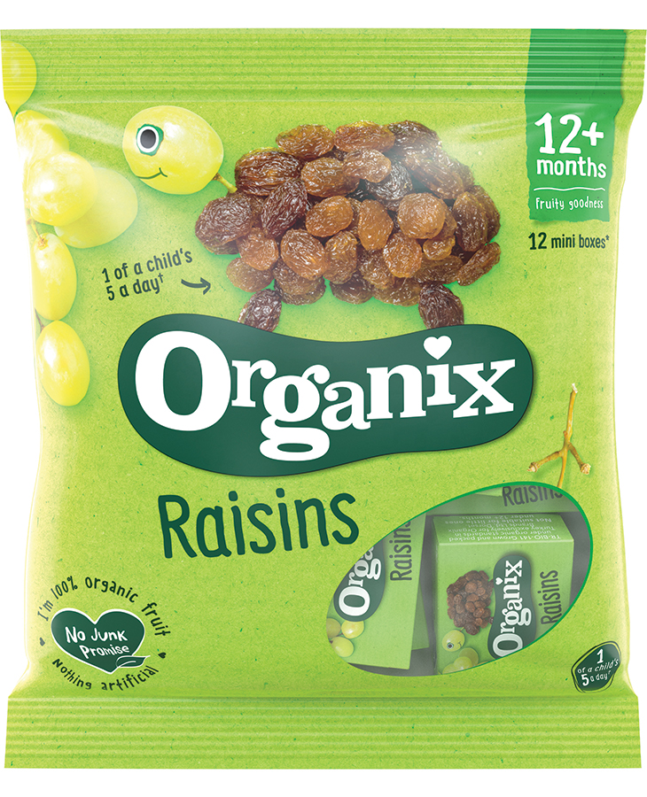 Organix Raisins Mini Boxes - 12 x 14g