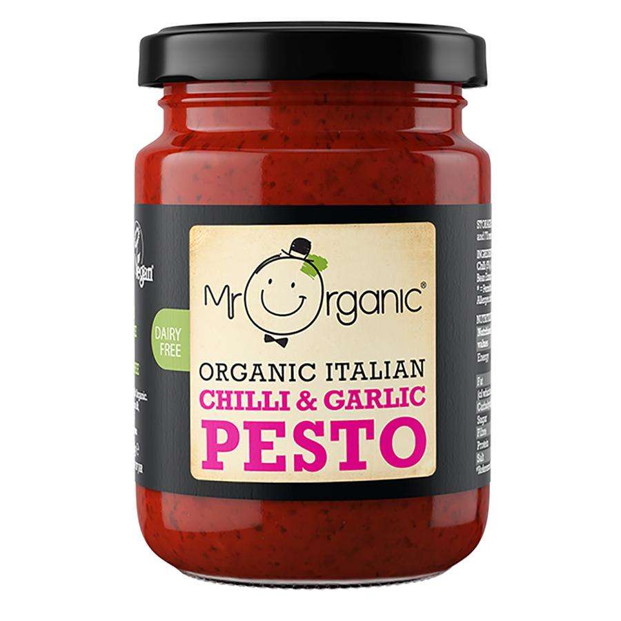 Mr Organic Chilli & Garlic Pesto - 130g