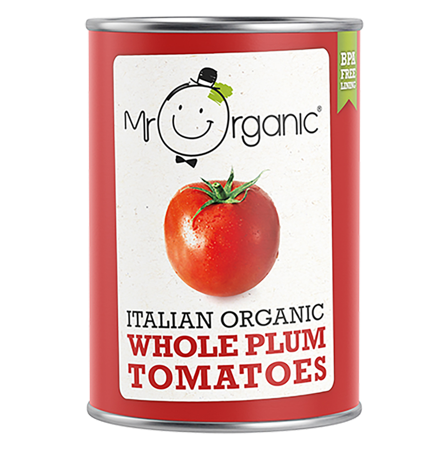 Mr Organic Whole Peeled Plum Tomatoes - 400g